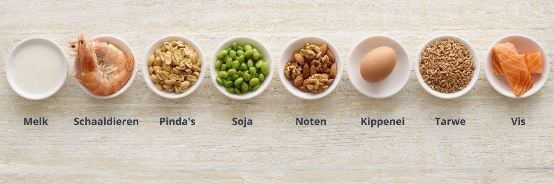 De meest voorkomende voedselallergieën