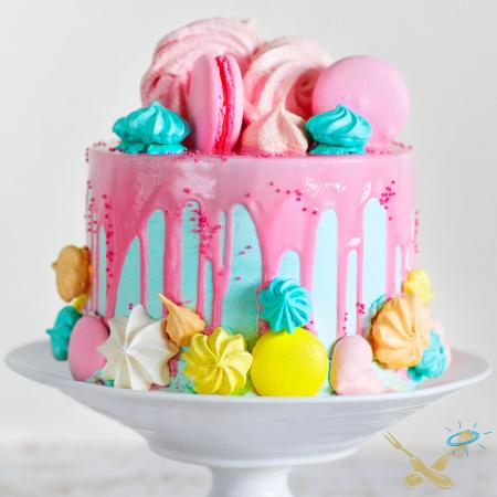 Kookcollege kinderfeestje taart maken