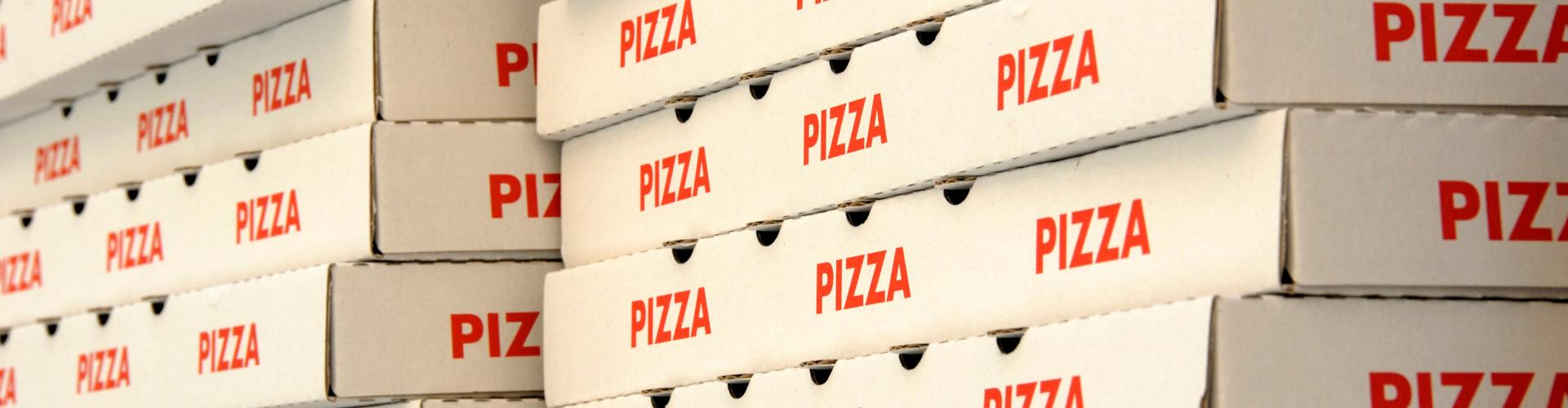 Kookcollege Kinderfeestje pizzadoos uitnodiging