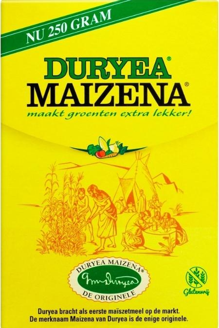 Duryea Maizena het bekende gele pakje