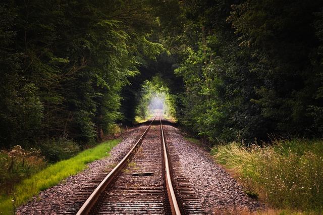 Convergerende lijnen rails
