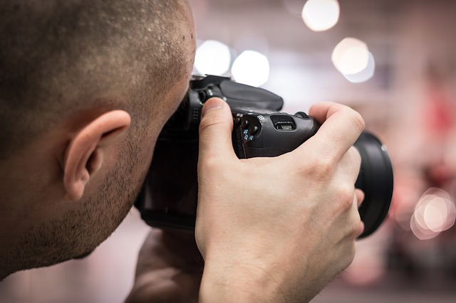 Fotograaf met vaste hand
