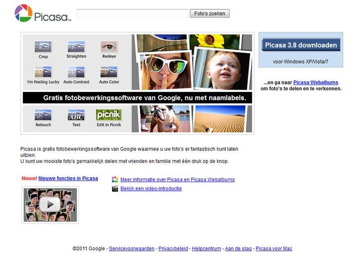 Fotobewerkingsprogramma Picasa