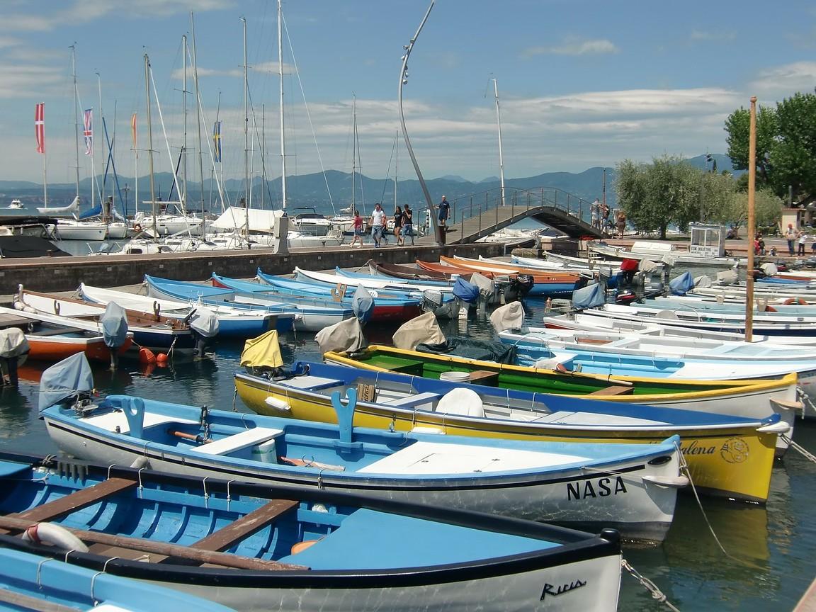Bardolino een dorp aan het Gardameer