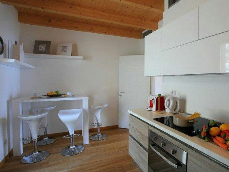 ingerichte keuken in appartement