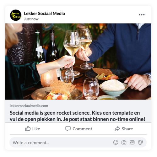 Horeca social media posts