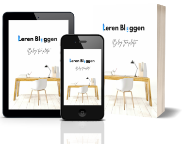 Leren Bloggen Blog template