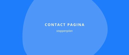 Stappenplan contact pagina