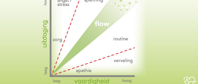 In de flow heb je geen stress
