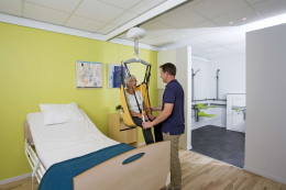 Tillen en verplaatsen - plafondlift - Ergocare