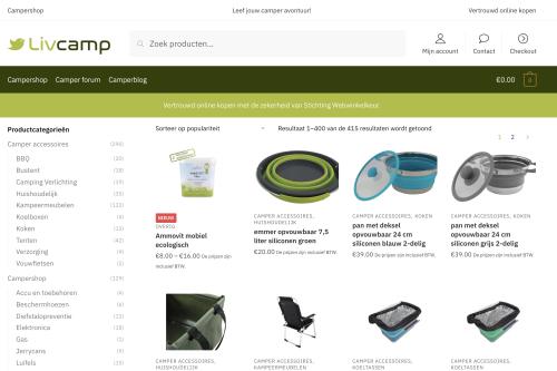 Camper webshop