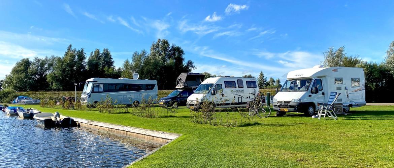 Camperplaats Kuikhorne direct aan de Friese wateren