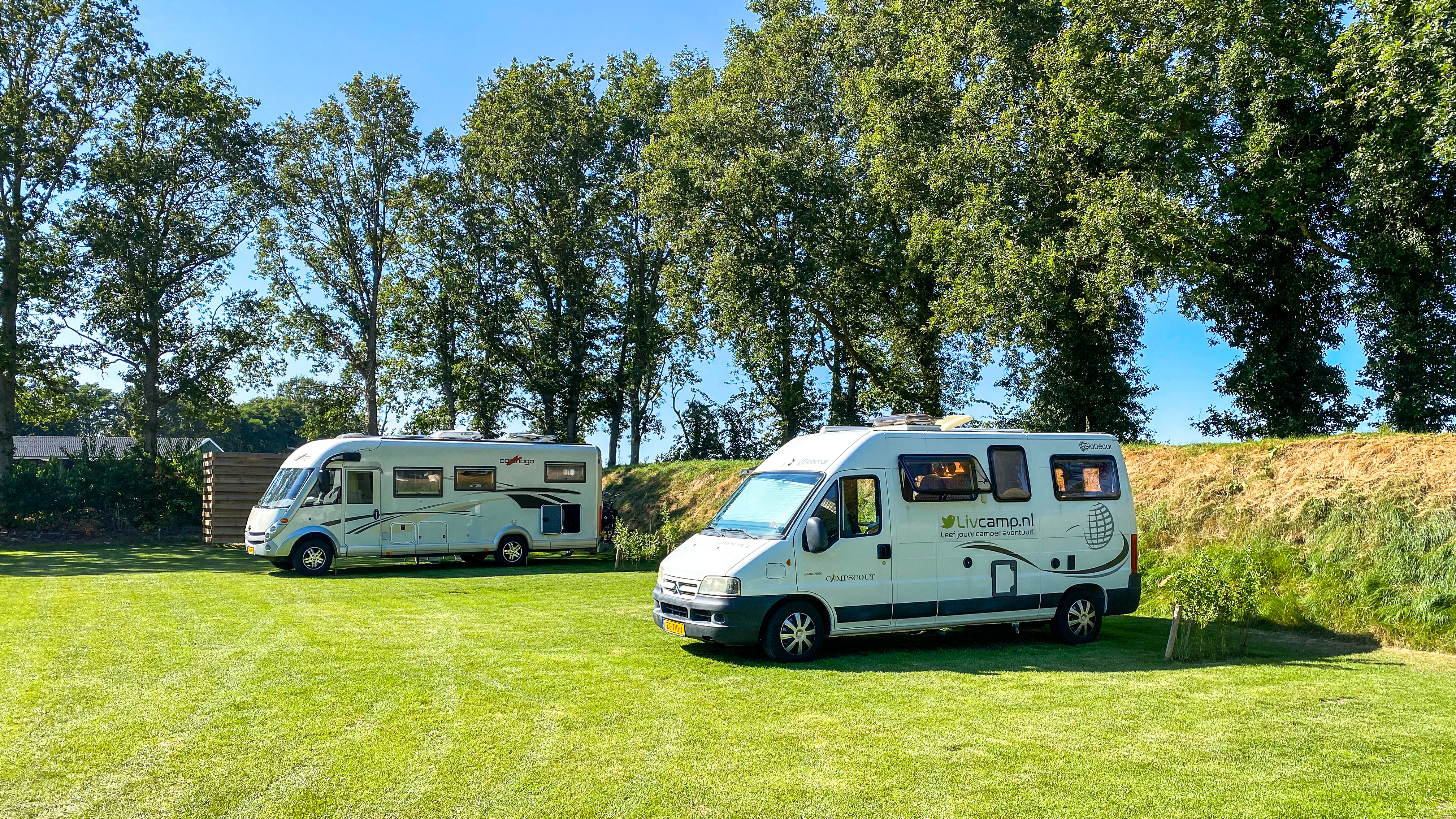 Camperplaats Noord-Sleen is een goede uitvalsbasis voor wandel- en fietstochten in Drenthe