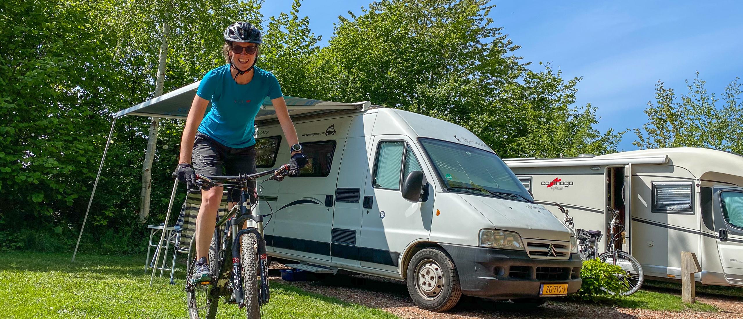 Camperplaatsen bij een mountainbikeroute in Nederland