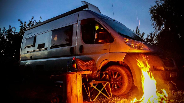 Camperplaatsen met vuurkorf