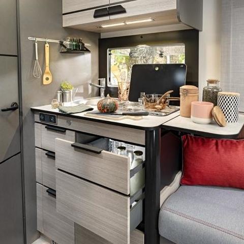 Keuken in de Challenger Combi X150