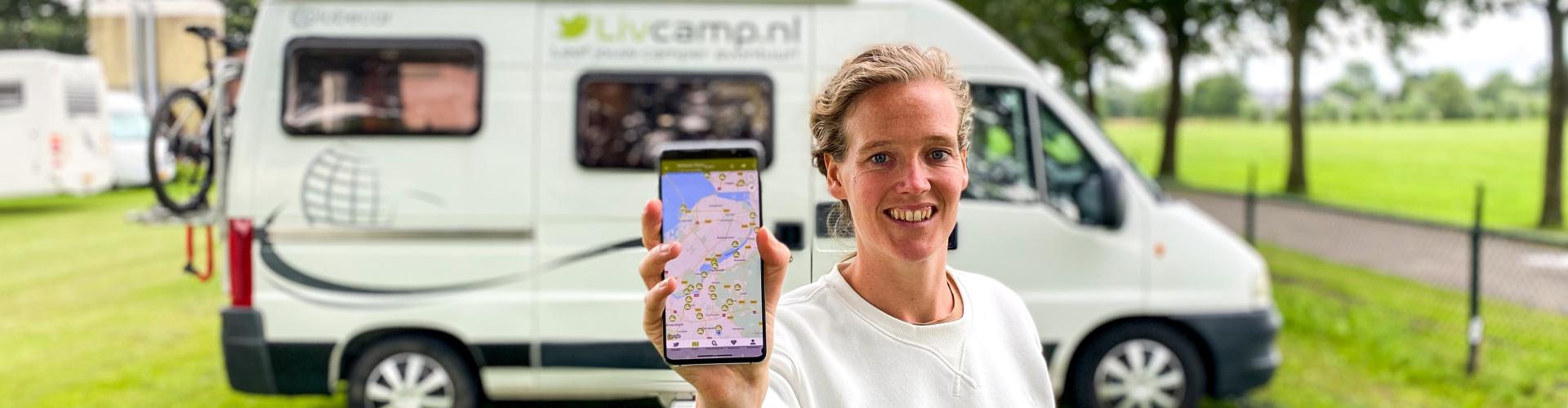 Livcamp camperplaatsen app