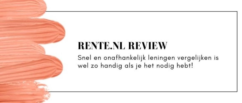 Rente.nl Review & Ervaringen: dit is pas slim leningen vergelijken!