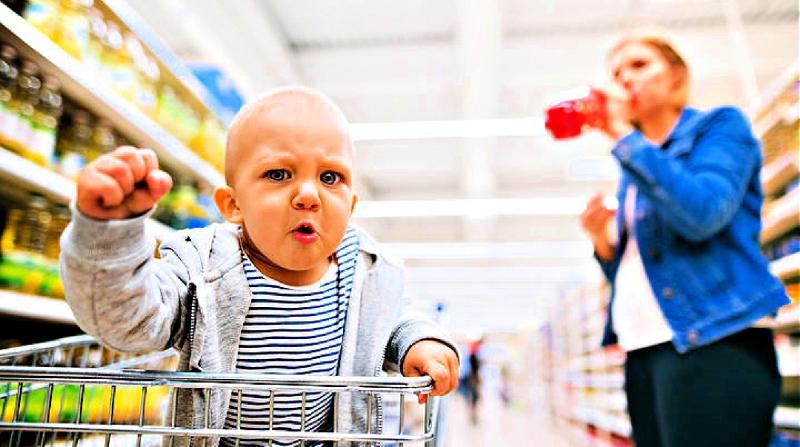 Supermarktscène van zijn ziel