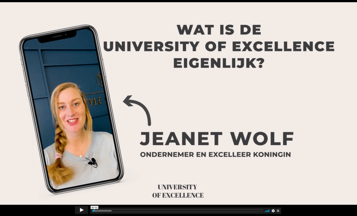 Jeanet Wolf_University of Excellence