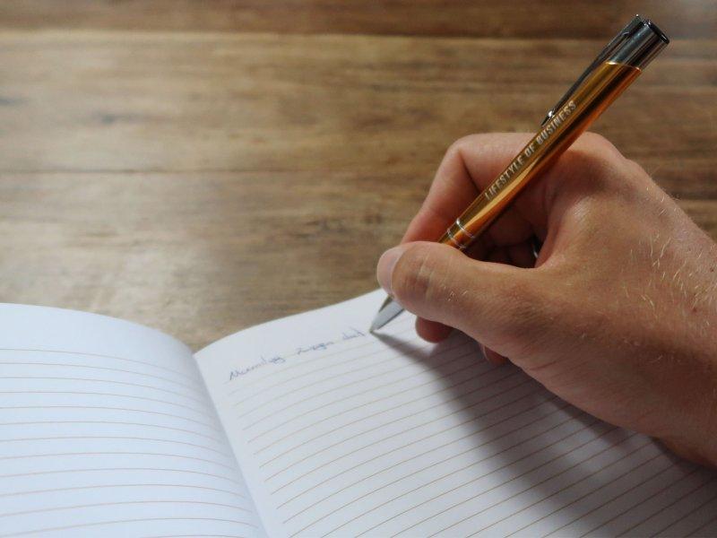In journal schrijven met LSOB pen