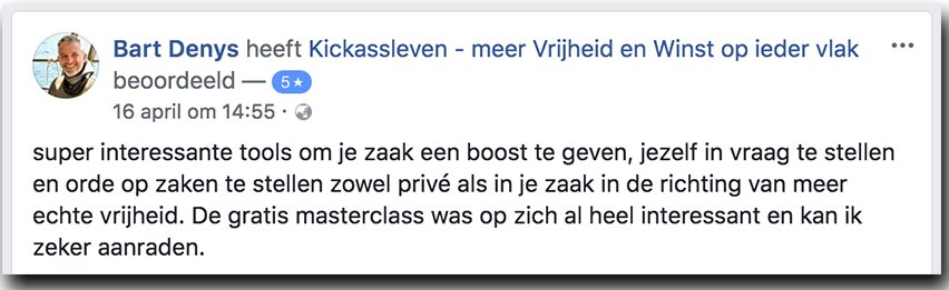 Masterclass Review Bart_Kickassleven.nl