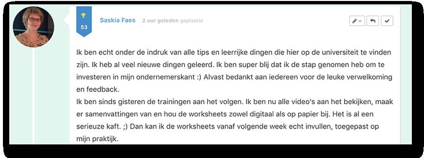 Positieve reactie Saskia_lsob.nl Universiteit