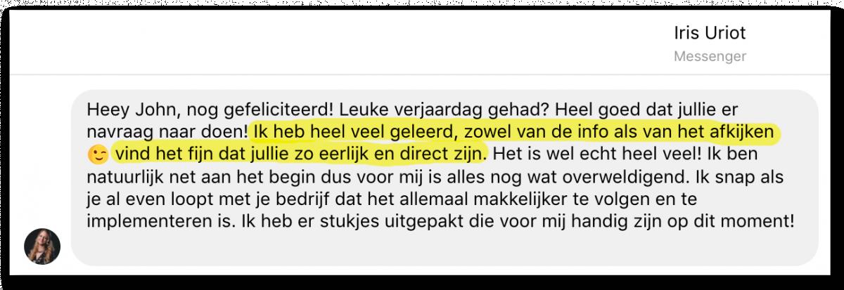 Masterclass Review Iris_Kickassleven.nl