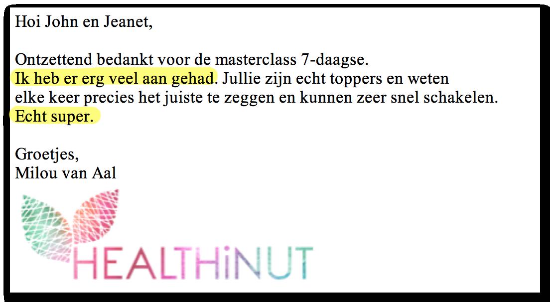 Masterclass Review Milou_Kickassleven.nl