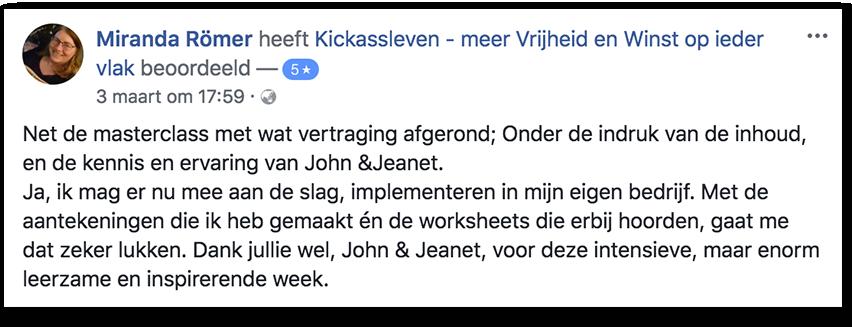 Masterclass Review Miranda_Kickassleven.nl
