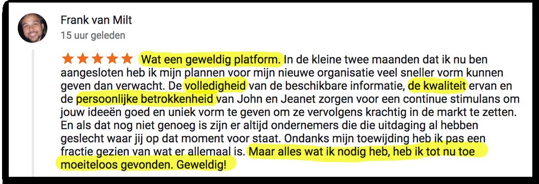 Positieve reactie Frank_lsob.nl Universiteit