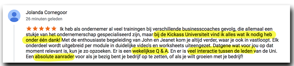 Positieve reactie Jolanda_lsob.nl Universiteit