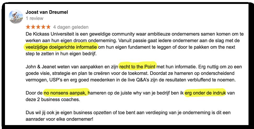 Positieve reactie Joost_lsob.nl Universiteit