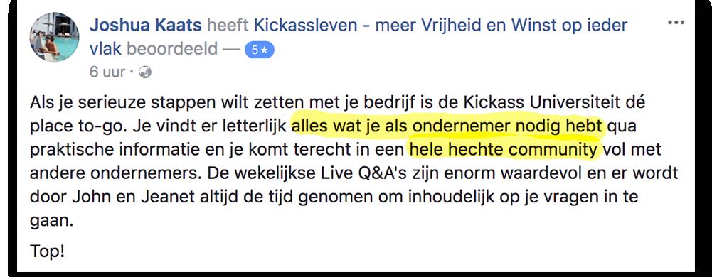 Positieve reactie Joshua_lsob.nl Universiteit