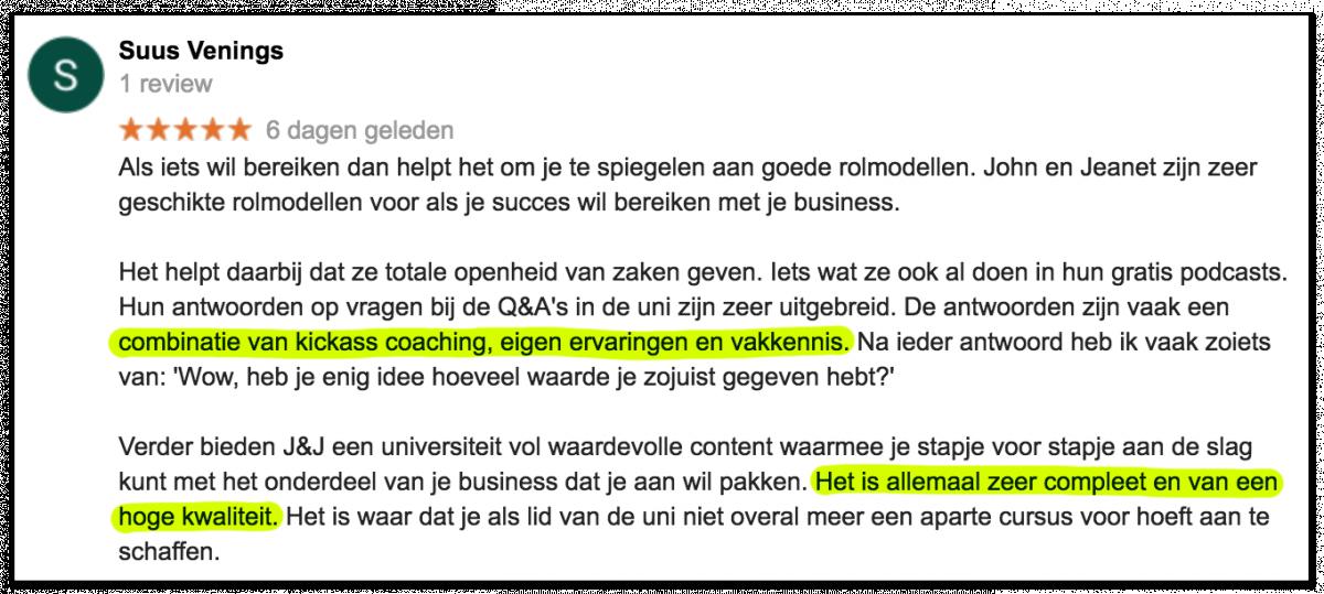 Kickassleven Universiteit review Suus