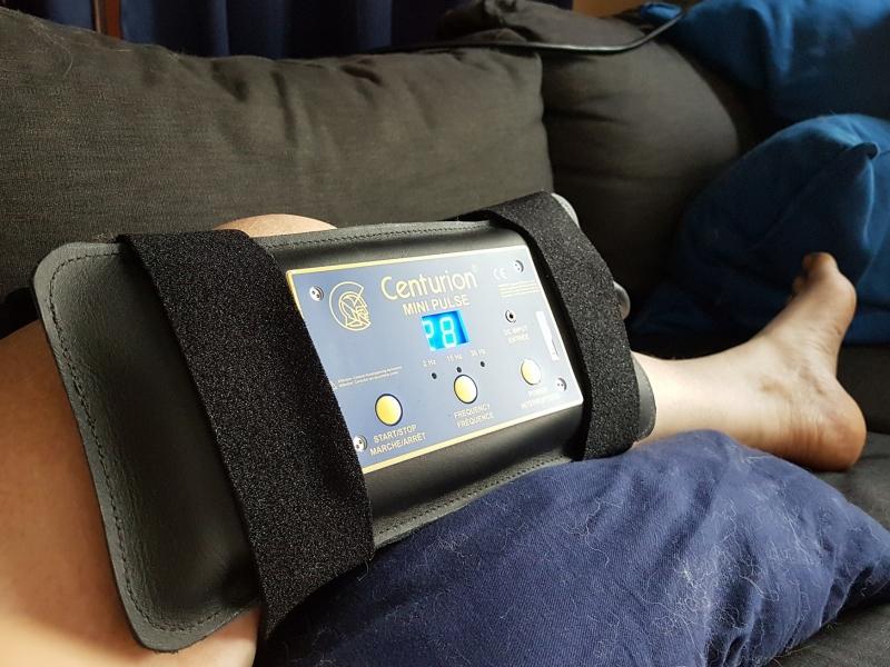 de minipulse kan ook goed gebruikt worden voor behandeling van een knie
