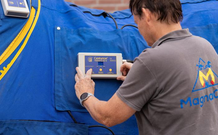 het instellen van de therapulse magneetvelddeken