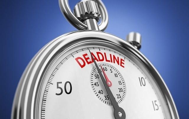 Overtuigende woorden e-mail deadline