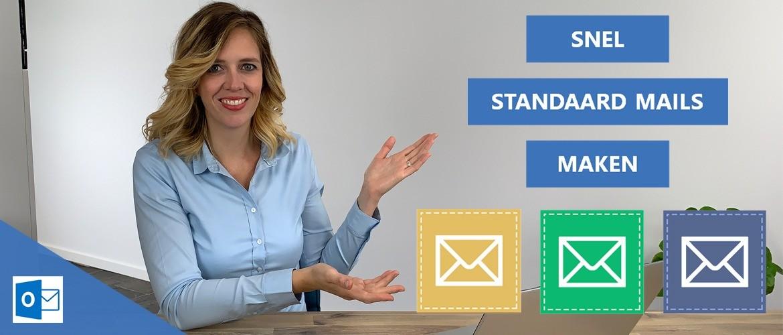Snel standaard e-mails maken met Outlook
