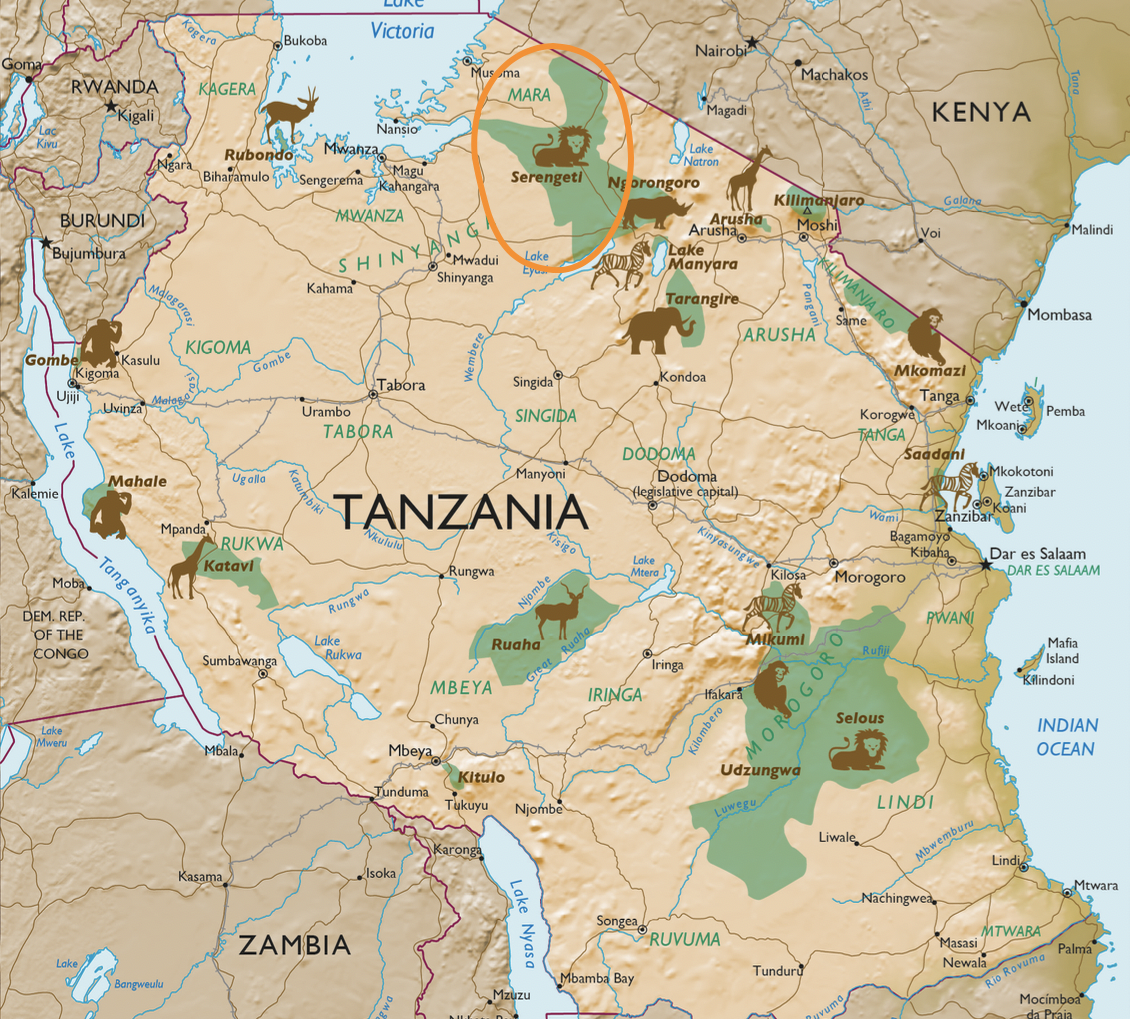 Serengeti National Park Map
