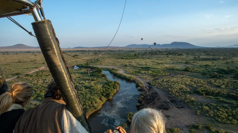 Luchtballon in Tanzania