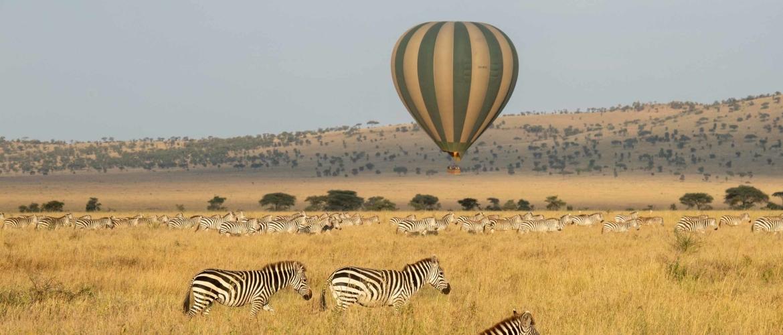 Een ballonsafari in Serengeti, een onvergetelijke ervaring