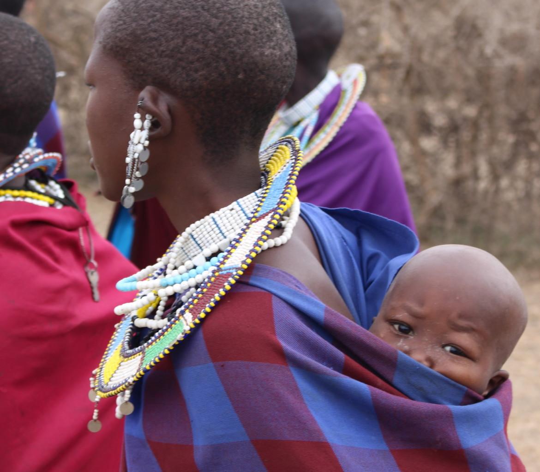 Maasai Lodge Stammen Tanzania Baby