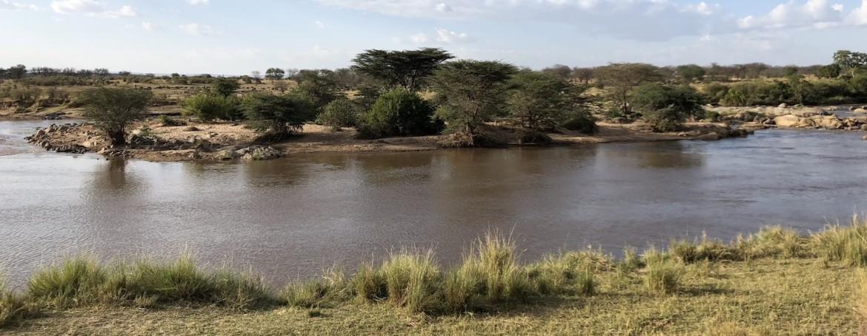 De Mara rivier in noord Serengeti