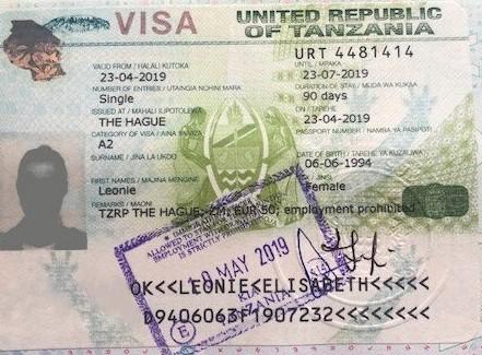 Tanzania Afrika Vakantie Visum