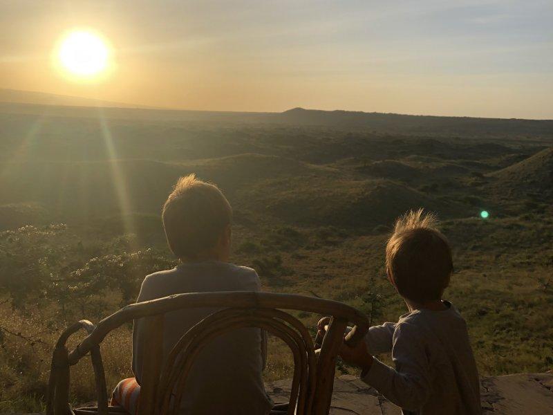 Zonsondergang in Tanzania