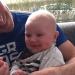 Papa Michiel en baby Loek