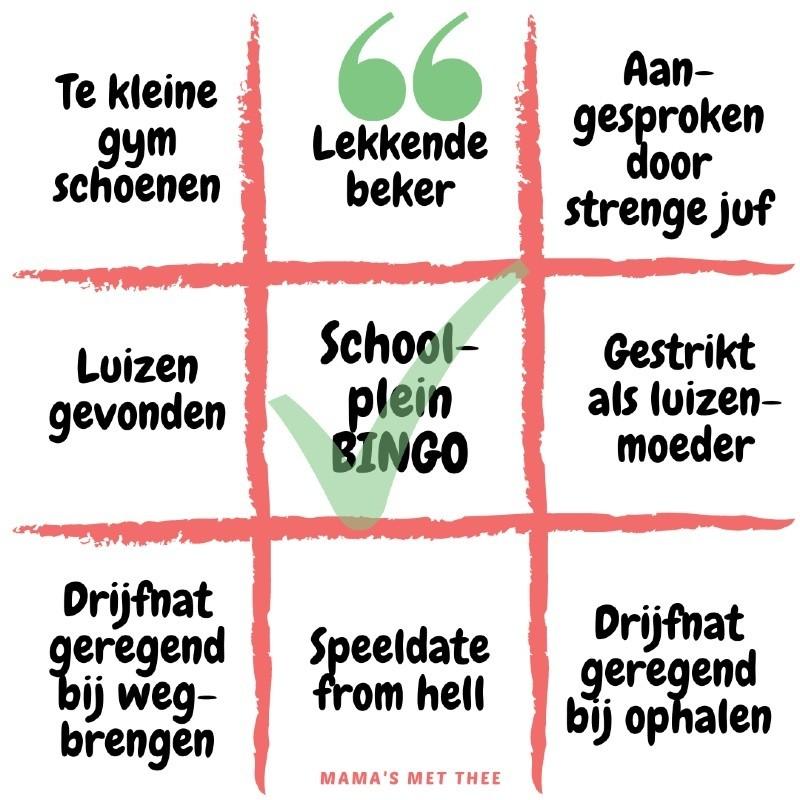 Schoolplein Bingo