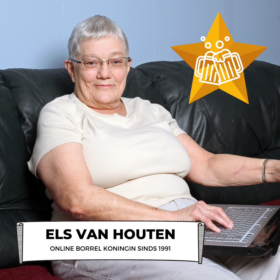 Vrouw Die Al Sinds 1991 Online Borrels Organiseert