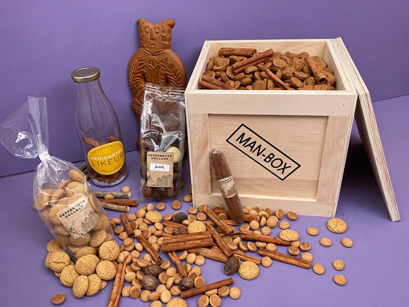 Man-Box Dutch Cookie Cadeaubox powered by Peppernuts Holland
